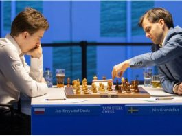 Tata Steel Chess 2021. Grandelius lider
