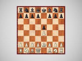 Posición de ajedrez con el bongcloud attack