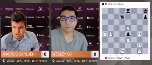 Carlsen derrota a So